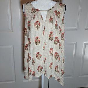 NWT Lucky Brand sleeveless tunic style top 1X